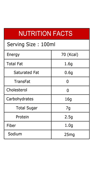 Dr.Chef Quinoa Milk Chocolate Nutrition Facts